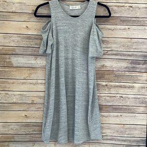 Stitch Fix Madelynn Cold Shoulder Dress Gray
